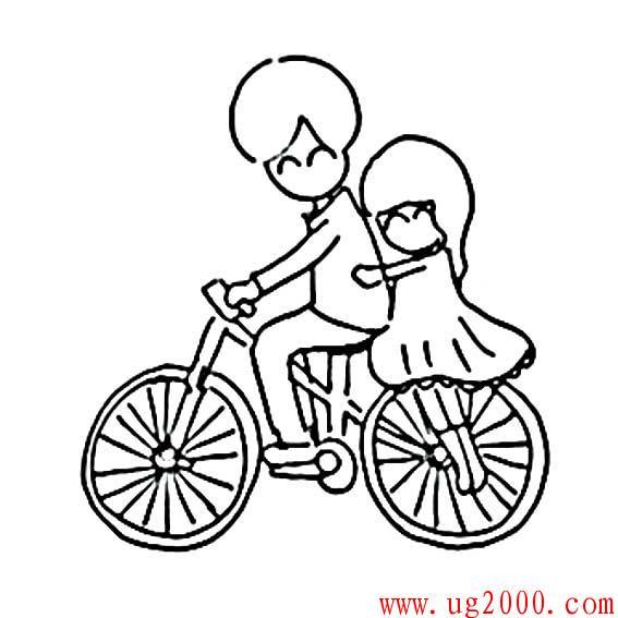 情侣简笔画浪漫_2.14情人节情侣浪漫简笔画_简笔画_好易学
