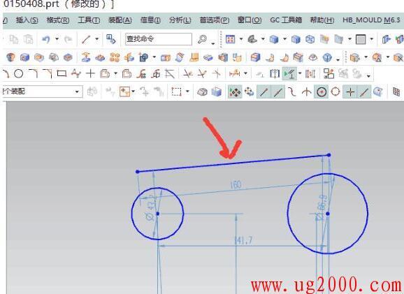 梦之城娱乐手机客户端【好易学网】_看到有学UG的网友问关于在UGNX10.0软件中,如何绘制一条直线与两个圆相切的问题,我就打开了UG软件,并在电脑上演示了一下如何绘制圆与直线相切的过程,  如果你是一名UG软件的学习新手,不妨认真观看下如用使用UG10.0软件中的约束技巧。  步骤:  1、先绘制一大一小并且有一定间隔的两圆;  教你UG10.0草图画一条直线与两个圆相切 简单易学 2、根据圆的位置随意画一条直线;  教你UG10.0草图画一条直线与两个圆相切 简单易学 3、打开约束,运用其相切,其得到结果如下: