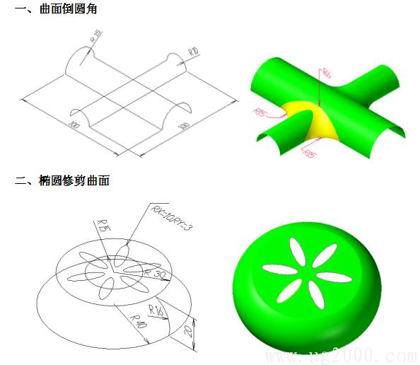 MasterCAM9.1曲面倒圆角实战