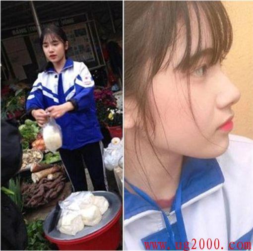 越南高二女生帮妈妈卖豆腐 外表清纯气质佳被网友追捧