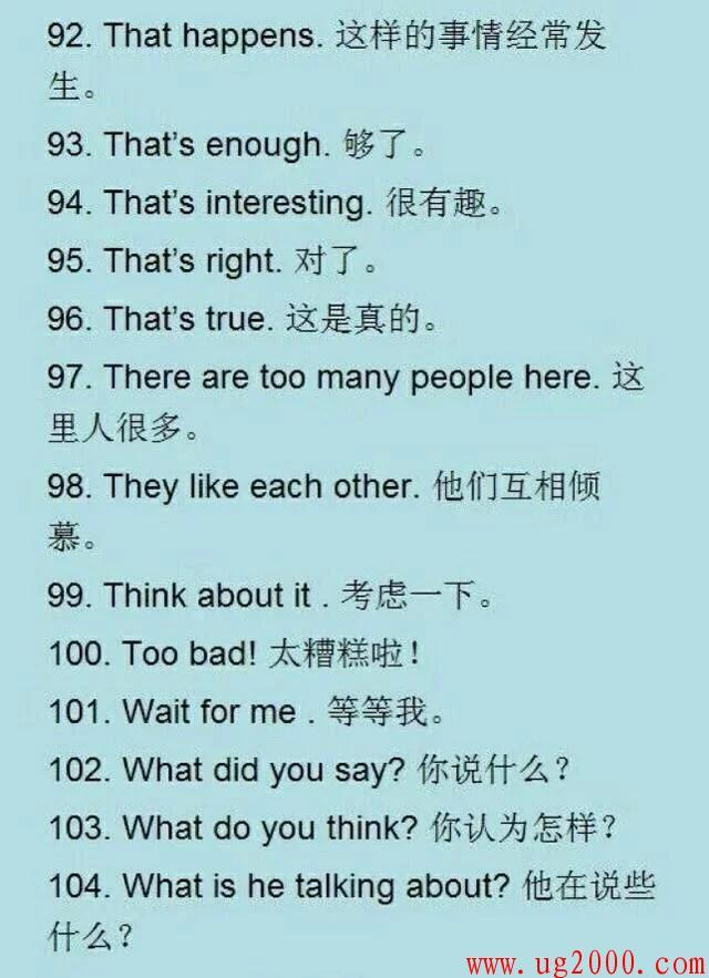 建议收藏!118句常用英语口语,英语渣也能脱口而出!
