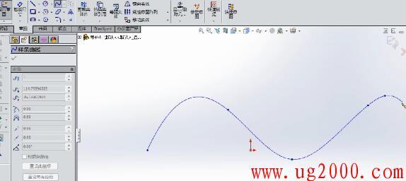 Solidworks2014教程之样条曲线、椭圆命令详解