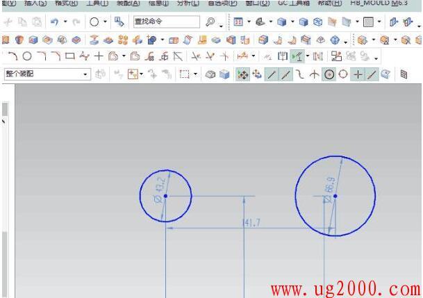教你UG10.0草图画一条直线与两个圆相切 简单易学