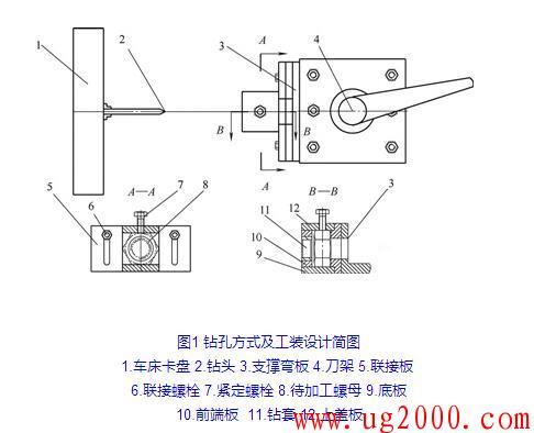 车床钻孔攻螺纹加工方法及工装设计