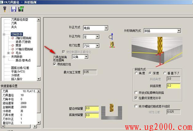 Mastercam软件2D刀路中的这个参数,你是怎么设置的呢?
