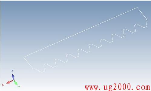 CAXA三维CAD教程:简单两步巧画齿条