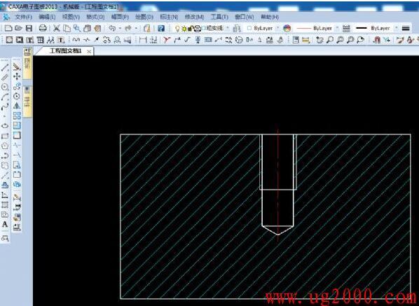 如何在CAXA中插入深度符号