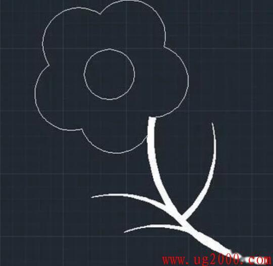 用cad绘制花朵