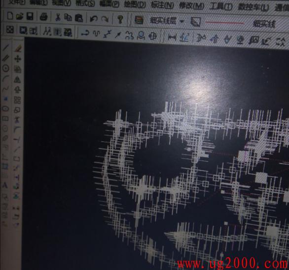 CAXA数控车鼠标有拖影,残影重叠,屏幕上会留下一串十字光标