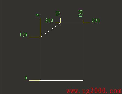 ProE5.0工程图纵坐标的标注方法