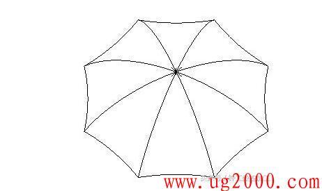 mastercam9.1雨伞造型